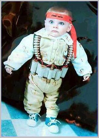 Infant suicide bomber - shows the conditioning that makes a child to become a martyr